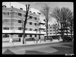 New flats at Clapham  London  1936.