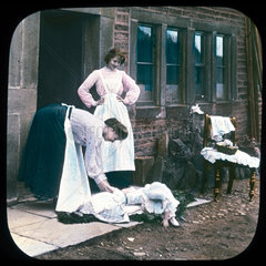 Two women and two children  c 1895.