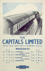 'The Capitals Limited'  BR poster  1950.