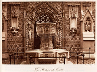 Medieval Court  the Crystal Palace  Sydenham  London  1911.