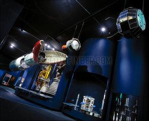 Black Arrow R4 rocket and X3 flight spare satellite  Science Museum  2000.