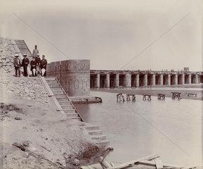 Construction site  Egypt  c 1900.