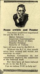 Railway Clerks Association recruitment