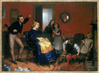 'A Cure for the Headache'  c 1860.
