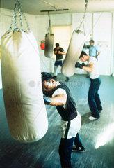 Boxing gym  California  USA  1971.