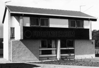 Semi-detached house  Scotland  May 1977.