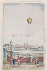 'Aerial Voyage in the Gardens of La Muette'  Paris  21 November 1783.