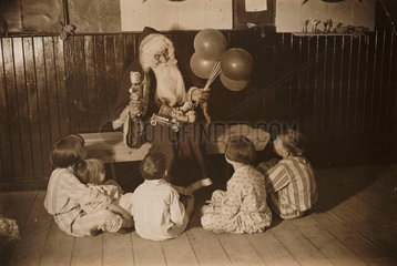 Father Christmas and children  3 December 1932.