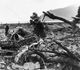 Lynmouth flood disaster  Devon  17 August 1952.