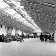 Cabin Class baggage examination room  Ocean Terminal  1950.