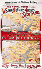 'The Royal Route to the Western Highlands & Islands of Scotland'  1914.