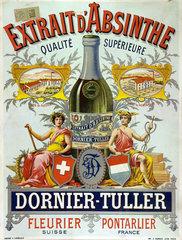 Advertisement for Dornier-Tuller absinthe  1890.