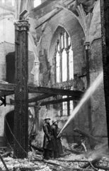 Firefighters during the Blitz  Liverpool  May 1941.