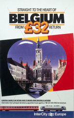 'Straight to the heart of Belgium'  British Rail poster  c 1980s.