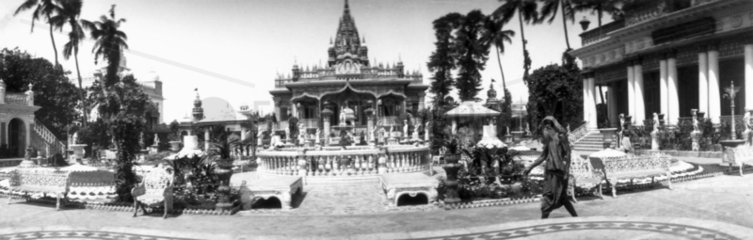 Panoramic view of an Indian temple  c 1910s