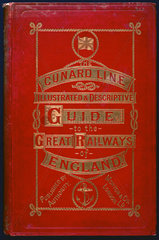 Front cover of a 'Cunard Line' guidebook  1890.