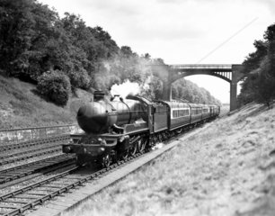 'Manorbier Castle' No. 5005  G.W.R. steam