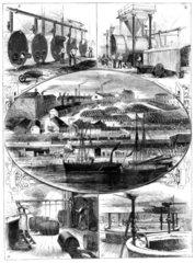 Crosfield's Soap Works  Warrington  Cheshire  1886.