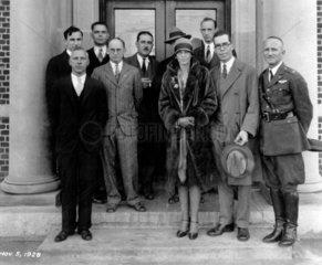 Amelia Earhart  US aviator  USA  5 November 1928.