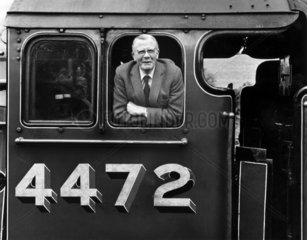 Railway photographer Bishop Eric Treacy  c 1970s.