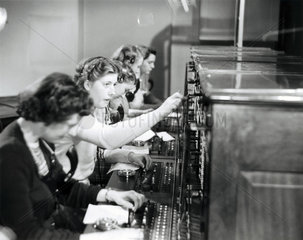 Operating a switchboard  1951.