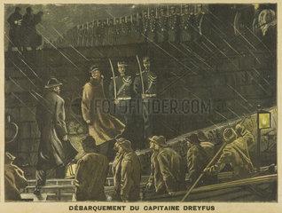 Dreyfus landing  9 July 1899.