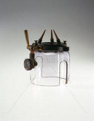Lead glass shield  c 1900-1930.