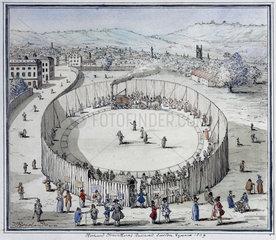 'Richard Trevithick's Railroad  Euston Square  1809'  1808.