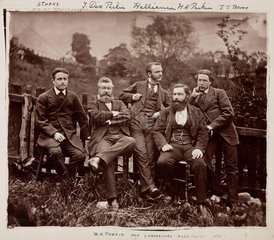Sir William Henry Perkin  English chemist  with colleagues  c 1870.
