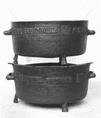 Henry VII bushel measures  1495. These bron
