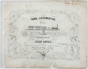 'Dance-Locomotive'  sheet music cover  19th century.