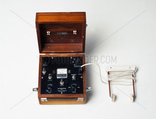 ECT machine with scalp electrodes  1950.
