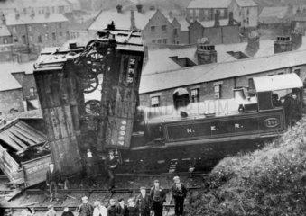 Accident on the North Eastern Railway  c 19