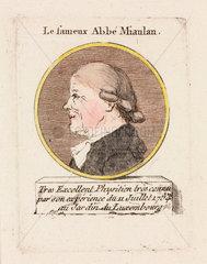 'Le fameux Abbe Miaulan'  c 1784.