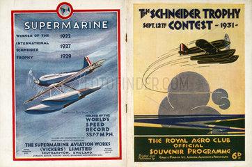 Schneider Trophy contest programme  1931.