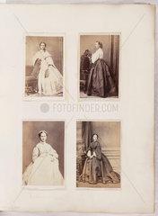 Four young women  c 1865.
