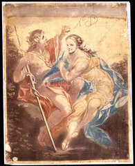 Venus and Adonis  mechanical painting  1778-1781.