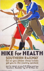 'Hike for Health'  SR poster  1931.