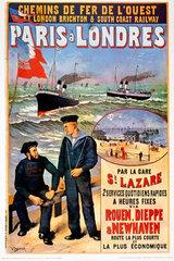'Paris a Londres'  LBSCR poster  1923-1947.