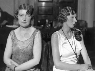 Two women's finished coiffures  5 November 1931.