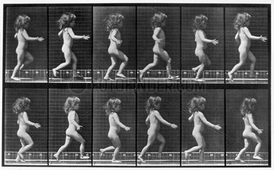 Nude child running  c 1872-1885.
