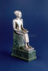 Statuette of Imhotep seated  Egyptian  600-500 BC.
