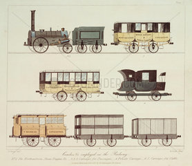 Coaches of the Liverpool & Manchester Railway  1831.
