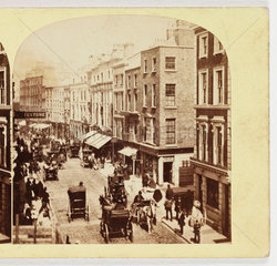 Grafton Street  Dublin  c 1885.
