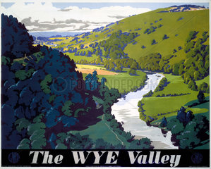 'The Wye Valley'  GWR poster  1946.
