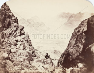 View from Mount Sinai  Egypt  c 1850-1900.