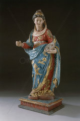 Statue of St Lucy of Syracuse  19th century.