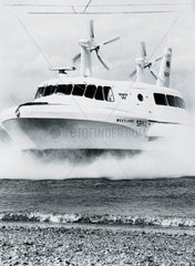 Hovercraft demonstration  Cowes  Isle of Wight  19 June 1962.
