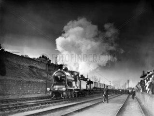 Royal Train  Aberdeen Station  November 1900.