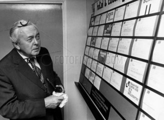 Harold Wilson at the Job Centre  September 1976.